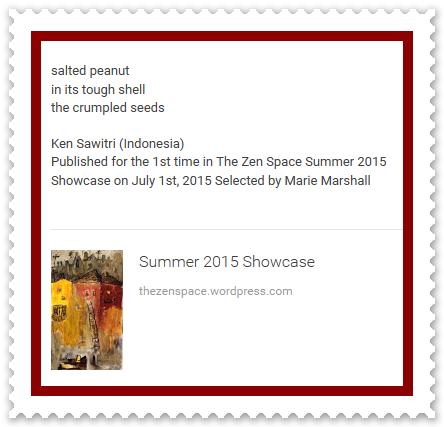 Ken Sawitri_The Zen Space_salted peanut