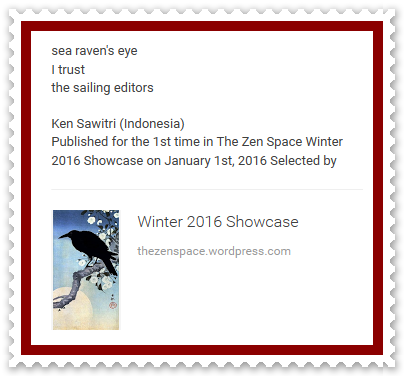 Ken Sawitri_The Zen Space_Winter 2016_sea raven's eye
